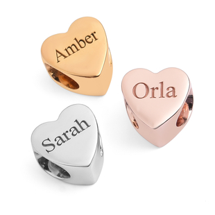 Personalised Engraved Heart Charm