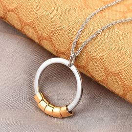 Personalise Engraved Secret Name Circle Necklace
