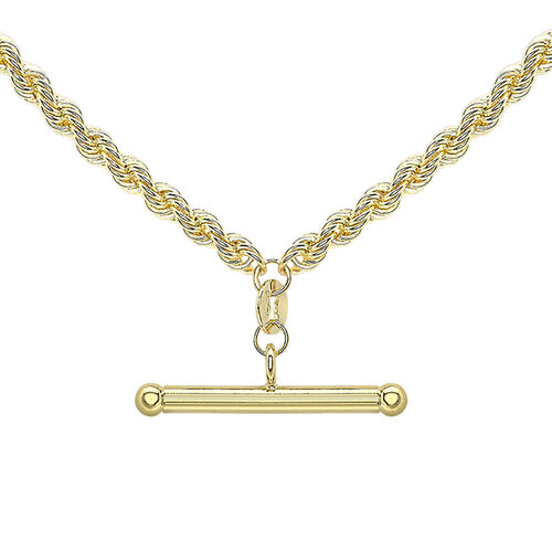Hatton Garden Close Out Deal 9K Yellow Gold Rope Albert Necklace (Size 18), Gold Wt. 5.70 Gms