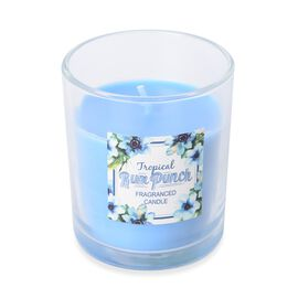 Fragranced Candle with Blue Wax (Tropical Run Punch Fragrance)