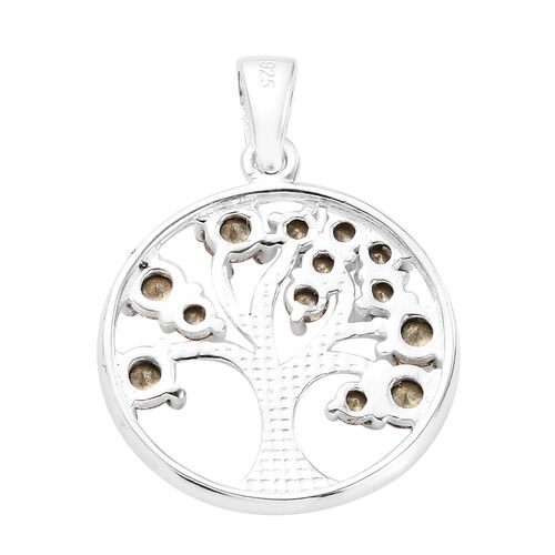 J Francis Crystal from Swarovski  AB Crystal Tree-of-Life Pendant in Sterling Silver