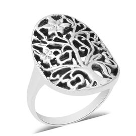 Sterling Silver Tree Ring, Silver wt 5.30 Gms