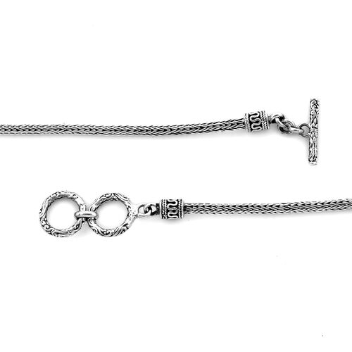 Royal Bali Collection - Sterling Silver Octopus Necklace (Size 20), Silver wt 27.00 Gms