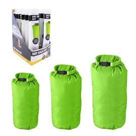 Set of 3 Dry Sacks in Green (Size 58x26.5Cm/ 38x24Cm/ 31x19Cm)