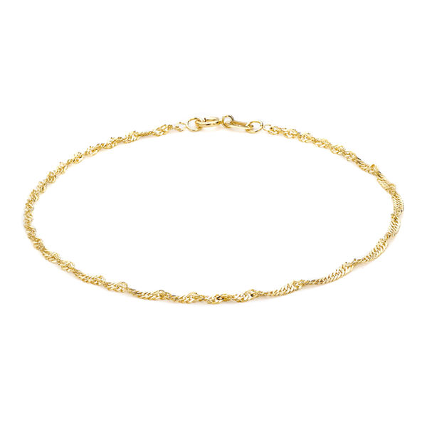 9K Yellow Gold Twisted Curb Bracelet (Size 7.5), Gold wt 1.00 Gms