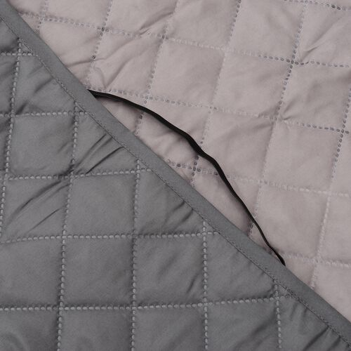 Water Repellent and Quilted Car Boot Cargo Mat Double Face Grey and Brown Colour (138x62 Cm)