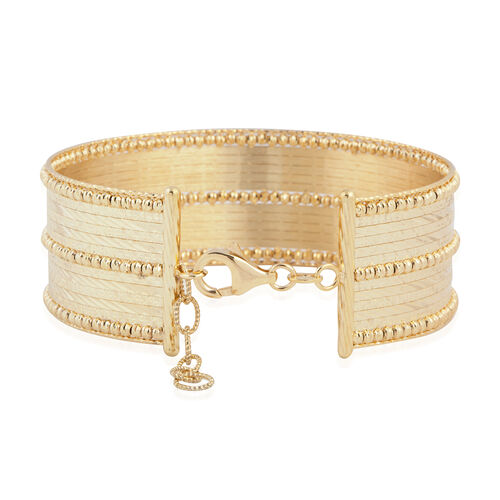 Italian Made- 9K Yellow Gold Bangle (Size 7 and 1 inch Extender), Gold wt 17.15 Gms.