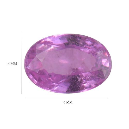 AA Pink Sapphire Oval 5.93x4.09x2.30 Faceted 0.37 Cts