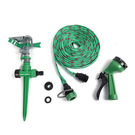 Garden Water Sprinkler with Adjustable Angle and Flow (Size 20x13x10cm) - Green