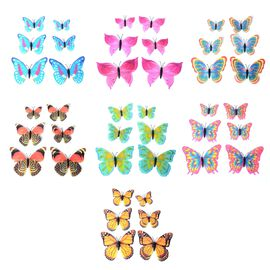 Home Decor - 42pcs Multi Colour Magnet 3D Butterflies