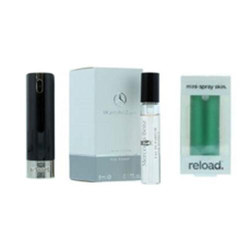 Reload Mini Perfume Spray Black (Incl. Mercedes Club Mini Men - 5ml & Aluminium Green)
