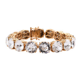 J Francis White Colour Crystal From Swarovski Tennis Bracelet in Gold Plated