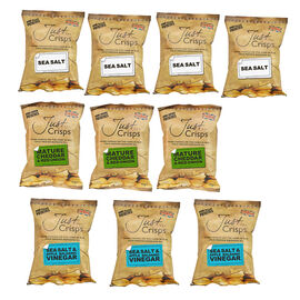Just Crisps Variety Traditional 10x40g (4 x Sea Salt, 3 x Sea Salt and Apple Balsamic Vinegar, 3 x M