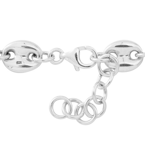 JCK Vegas Collection - Hand Polished Sterling Silver Mariner Link Necklace (Size 20 with 1 inch Extender), Silver wt. 31.00 Gms.