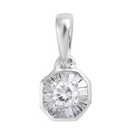 Diamond 9K W Gold Pendant  0.250  Ct.