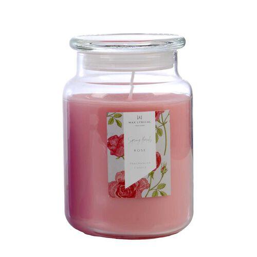 Wax Lyrical England - Rose Large Candle Jar - 135 Hours Burn Time