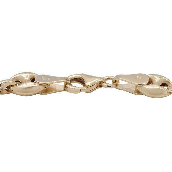 9K Yellow Gold Marine Link Bracelet (Size 7.5), Gold wt 4.80 Gms