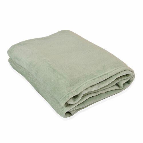 Super Bargain Price- Superfine Green Colour Microfiber Blanket 150x200 cm