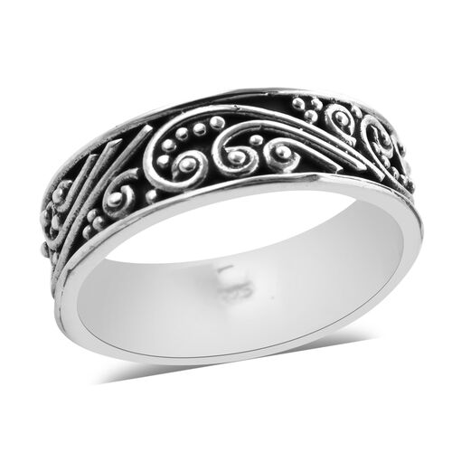 Royal Bali Collection Vines Band Ring in Sterling Silver 3.80 Grams