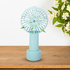 Air Cooling Fan with Mist Spray - Blue