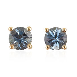 0.50 Carat AA Santa Maria Aquamarine Stud Earrings in 9K Gold (with Push Back)