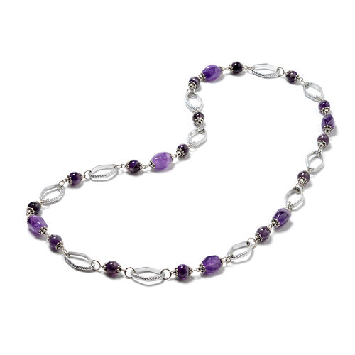 Amethyst Beaded Necklace (Size 31) 175.00 Ct.