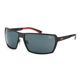 JAGUAR Mens Black Driving Sunglasses with Grey Polarised Lenses