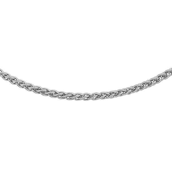 Sterling Silver Spiga Chain (Size 16 with 2 inch Extender), Silver wt 3.30 Gms