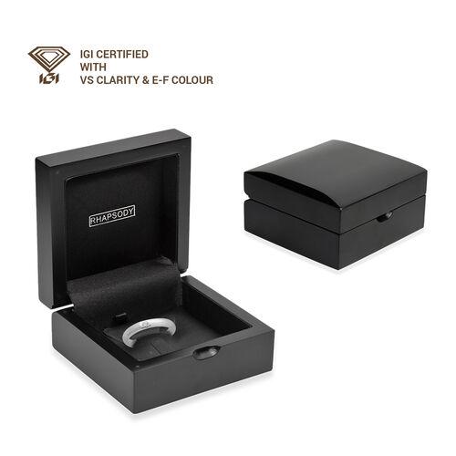 Limited Edition - Signature Collection RHAPSODY 950 Platinum IGI Certified Diamond (VS/E-F) Band Ring, Platinum wt 6.40 Gms