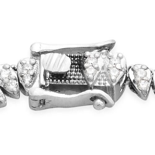 RHAPSODY 950 Platinum IGI Certified Diamond (Rnd) (VS/E-F) Bracelet (Size 7.5) 3.005 Ct, Platinum wt 24.00 Gms