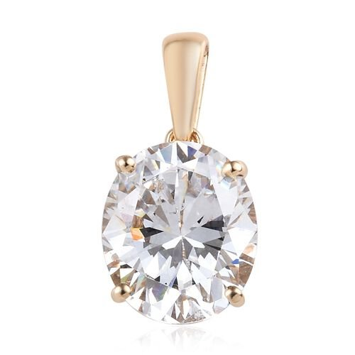 J Francis  Made with SWAROVSKI ZIRCONIA Solitaire Pendant in 9K Yellow Gold