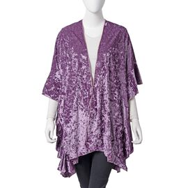 Purple Textured Velvet Kimono (One Size)