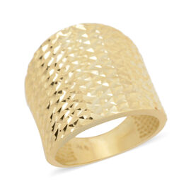 JCK Vegas Diamond Cut Band Ring in 9K Gold 4.34 grams