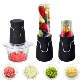 Midnight Mega Deal - Easy Speedy Blender (600ml Jar, Cross Blade, 2L Glass Bowl and 100ml Grinding J