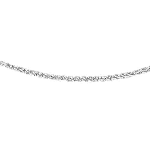 JCK Vegas Collection ILIANA 18K White Gold Spiga Chain (Size 20), Gold wt. 2.60 Gms.