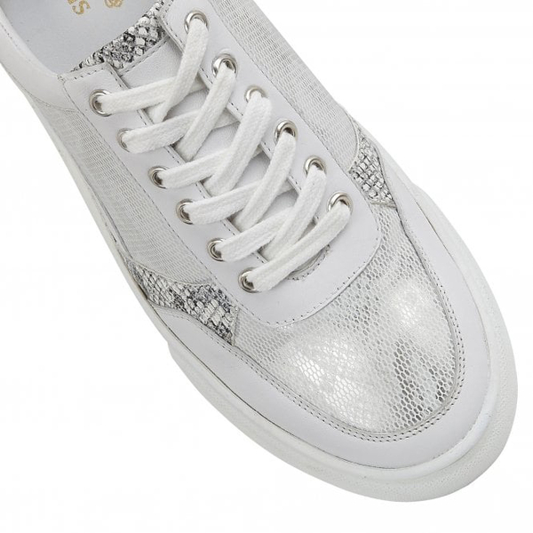 Lotus Stressless Leather Venice Lace-Up Trainers (Size 4) - White