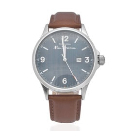 Ben Sherman Water Resistant Watch with Blue Dial and Tan Colour Strap