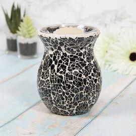 Lesser & Pavey - Mosaic Black Glass Wax Melt & Oil Warmer (Size 14x7x9cm)