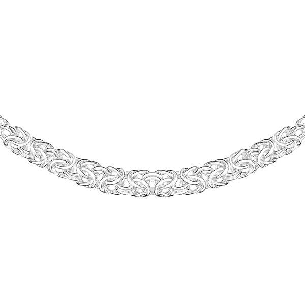 Sterling Silver Byzantine Necklace (Size 18), Silver wt 11.30 Gms.