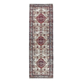 Luxury 95% Cotton Chenille Jaquard Persian Pattern Carpet (Size 240x80 Cm)