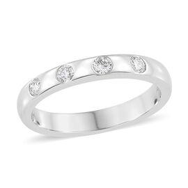 RHAPSODY 950 Platinum IGI Certified Diamond (Rnd) (VS/E-F) Ring 0.250 Ct, Platinum wt 6.35 Gms.