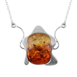 Baltic Amber Necklace in Sterling Silver 8 Grams 22 Inch