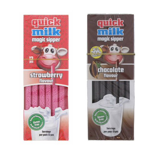 DR Moo: Quick Milk Sipper Chocolate (13) & Quick Milk Sipper Strawberry (13) (Set of 2)