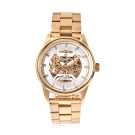 GENOA Automatic Movement 5ATM Water Resistant Watch with Chain Strap and Butterfly Buckle Clasp in G