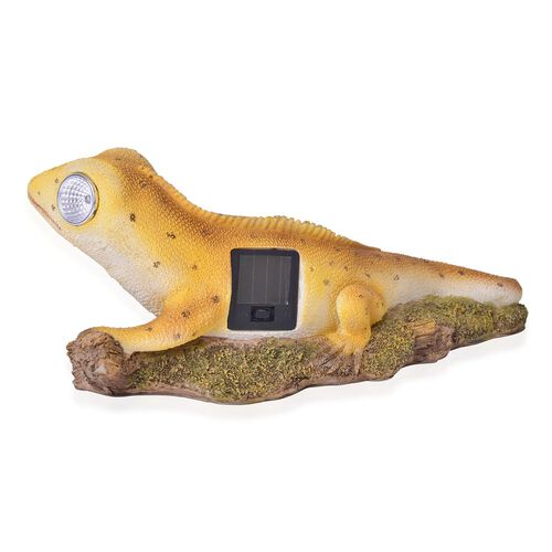 Blonde Colour LED Solar Lizard (Size 29X12X10 Cm)