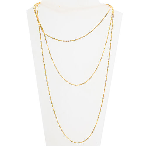 Vicenza Collection 14K Gold Overlay Sterling Silver Margarita Necklace (Size 60), Silver wt 11.92 Gms.