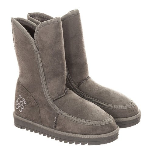 GURU Womens Winter Fluffy Ankle Boots (Size 3) - Grey