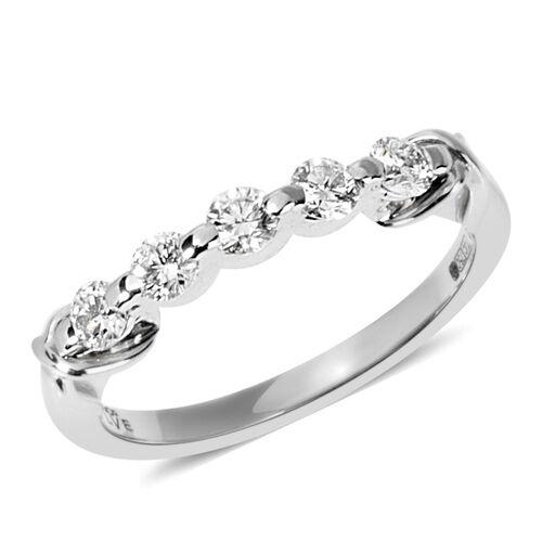 ILIANA 0.50 Carat Diamond Eternity Band Ring in 18K 3.5 Grams SI GH
