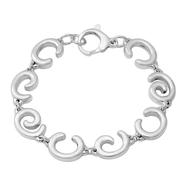 Link Bracelet with Lobster Clasp in Thai Sterling Silver 15.89 Grams 7.5 Inch
