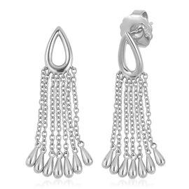LucyQ Long Tassel Earrings with Push Back in Silver 7.39 Grams